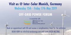 Visit SD Wind Energy at Inter-Solar 2019